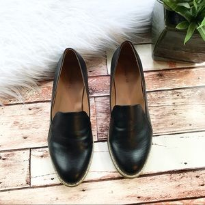 NEW indigo rd. Black faux leather loafers